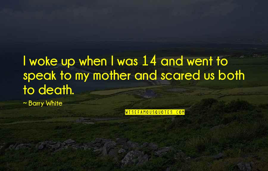 A Death Of A Mother Quotes By Barry White: I woke up when I was 14 and