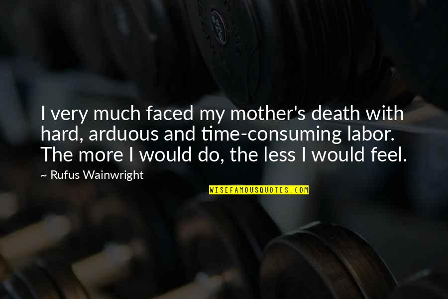 A Death Of A Mother Quotes By Rufus Wainwright: I very much faced my mother's death with