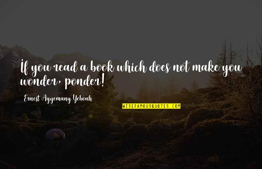 A Good Book Quotes By Ernest Agyemang Yeboah: If you read a book which does not