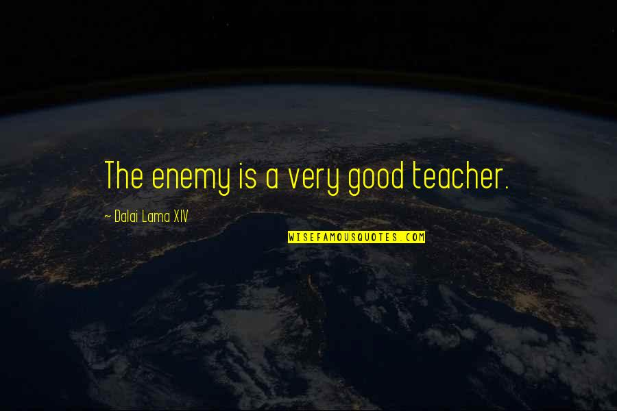 A Good Teacher Quotes By Dalai Lama XIV: The enemy is a very good teacher.