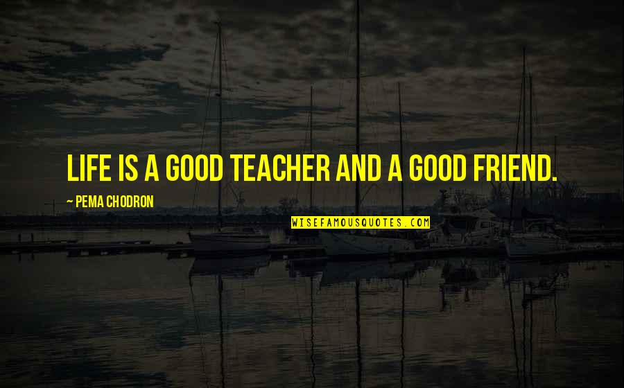 A Good Teacher Quotes By Pema Chodron: LIFE is a good teacher and a good