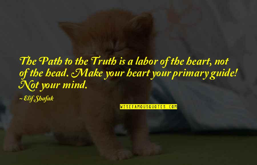 A Guide Quotes By Elif Shafak: The Path to the Truth is a labor