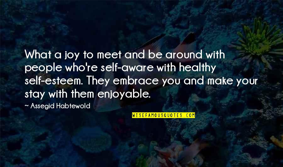 A Healthy Life Quotes By Assegid Habtewold: What a joy to meet and be around