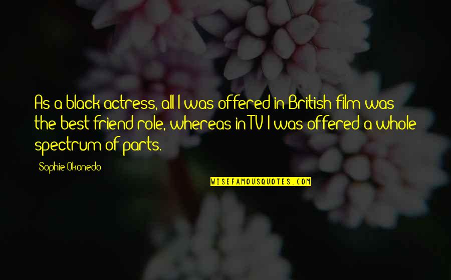 A I Film Quotes By Sophie Okonedo: As a black actress, all I was offered