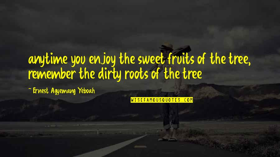 A Journey Of Life Quotes By Ernest Agyemang Yeboah: anytime you enjoy the sweet fruits of the