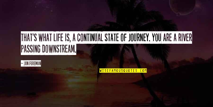 A Journey Of Life Quotes By Jon Foreman: That's what life is, a continual state of
