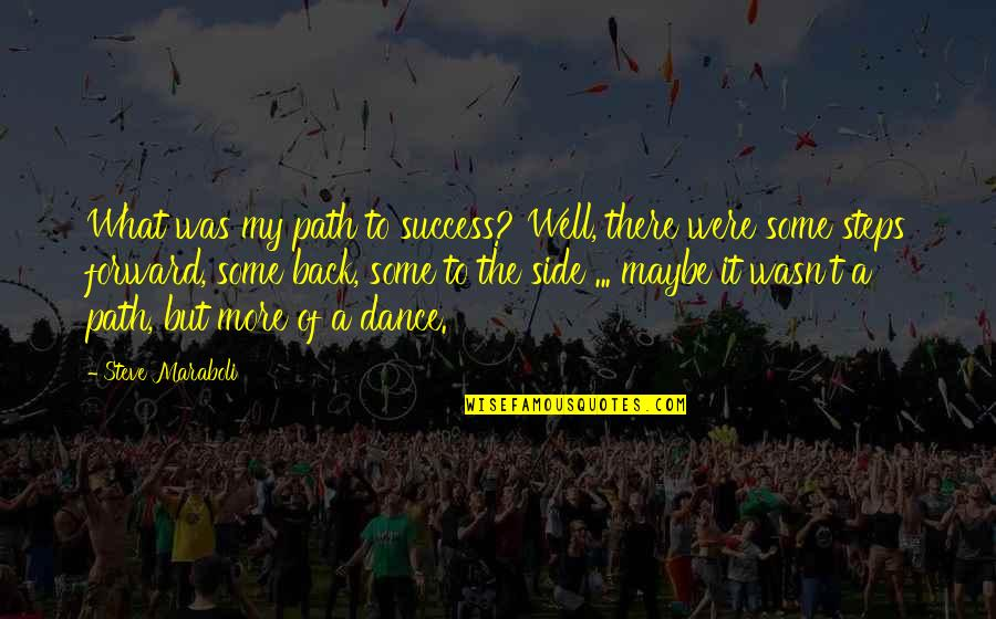 A Journey Of Life Quotes By Steve Maraboli: What was my path to success? Well, there