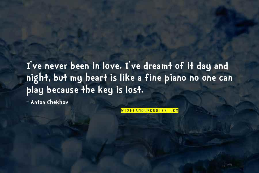 A Key To Heart Quotes By Anton Chekhov: I've never been in love. I've dreamt of