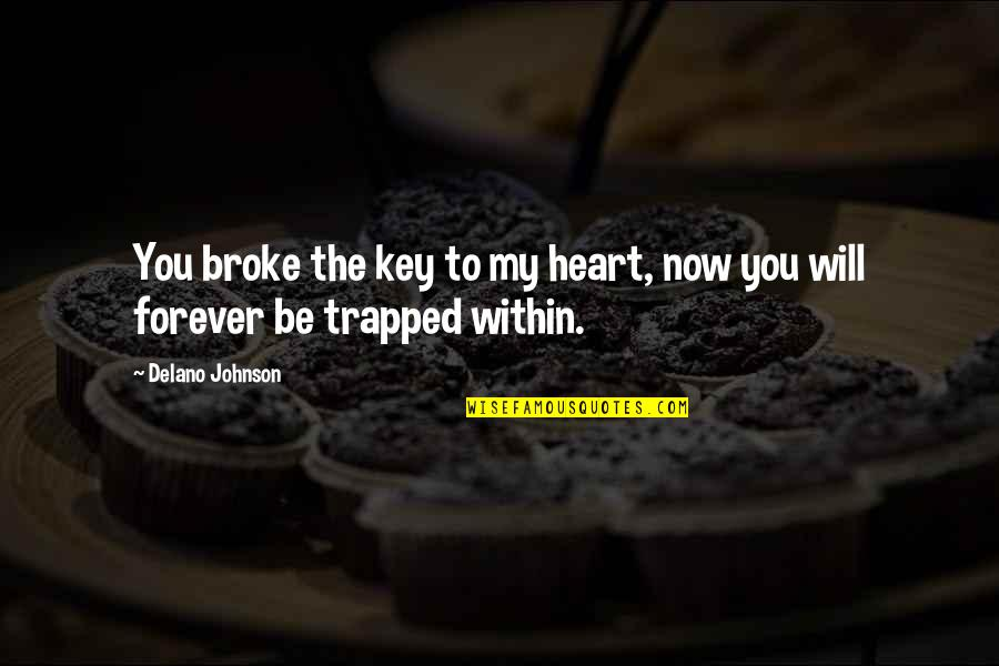 A Key To Heart Quotes By Delano Johnson: You broke the key to my heart, now