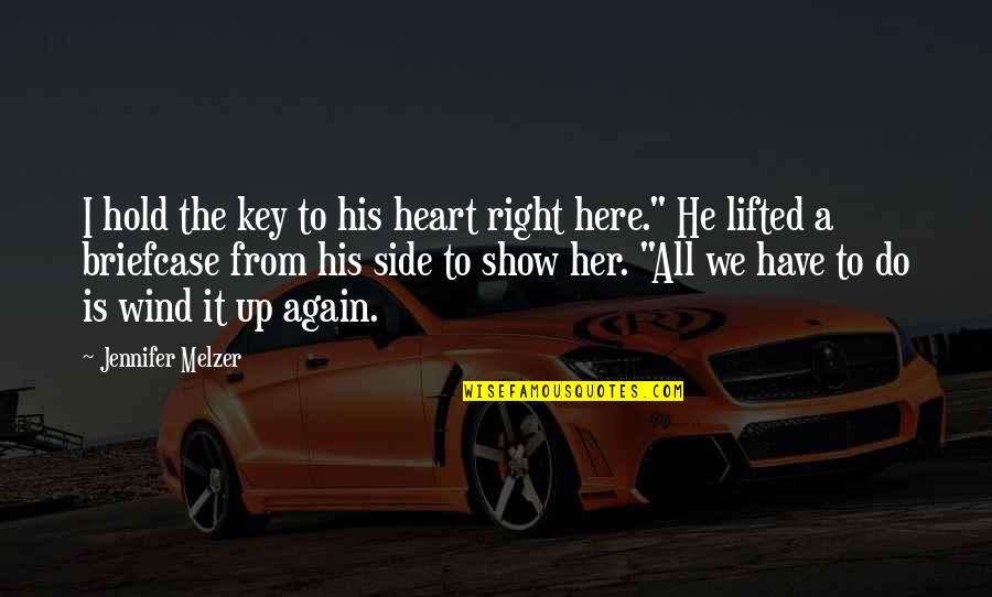 A Key To Heart Quotes By Jennifer Melzer: I hold the key to his heart right