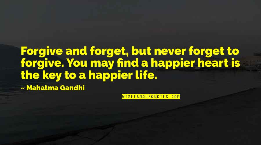 A Key To Heart Quotes By Mahatma Gandhi: Forgive and forget, but never forget to forgive.