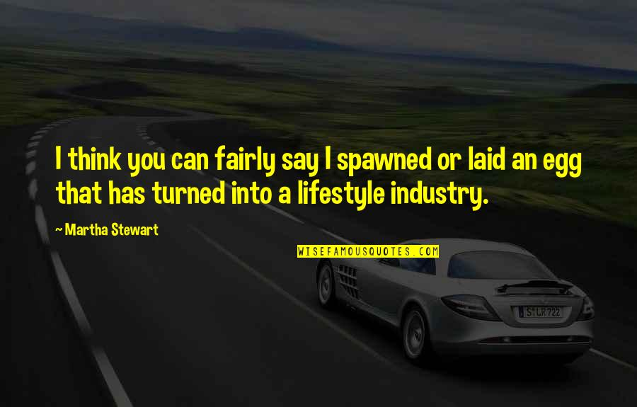 A Lifestyle Quotes By Martha Stewart: I think you can fairly say I spawned