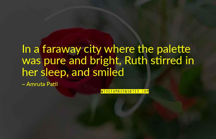 A Long Long Sleep Quotes By Amruta Patil: In a faraway city where the palette was