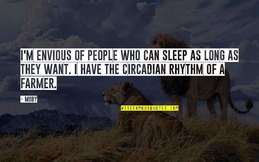 A Long Long Sleep Quotes By Moby: I'm envious of people who can sleep as