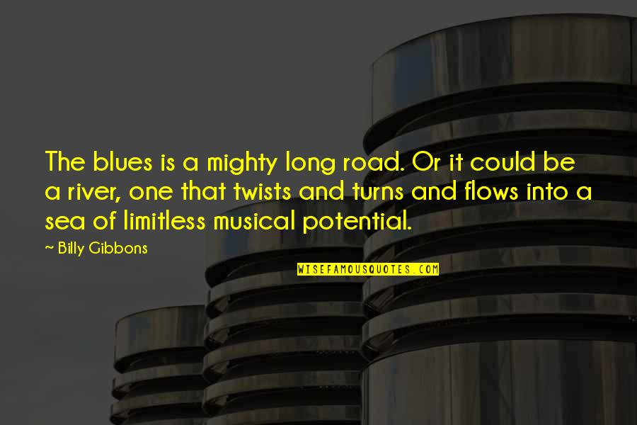 A Long Road Quotes By Billy Gibbons: The blues is a mighty long road. Or