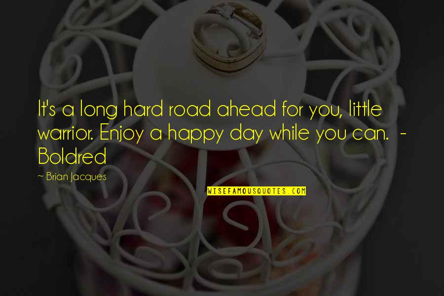 A Long Road Quotes By Brian Jacques: It's a long hard road ahead for you,
