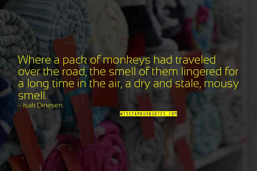 A Long Road Quotes By Isak Dinesen: Where a pack of monkeys had traveled over