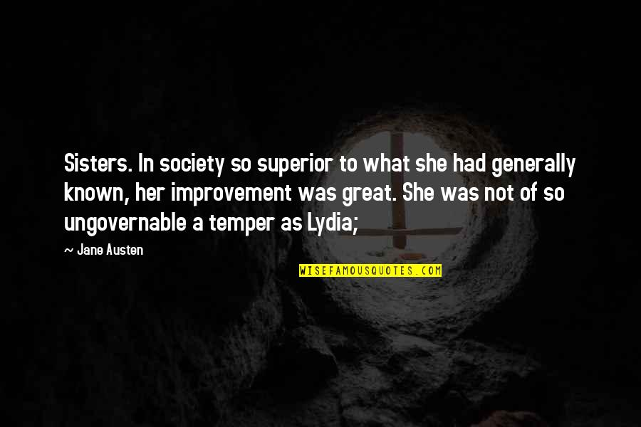 A M Superior Quotes By Jane Austen: Sisters. In society so superior to what she
