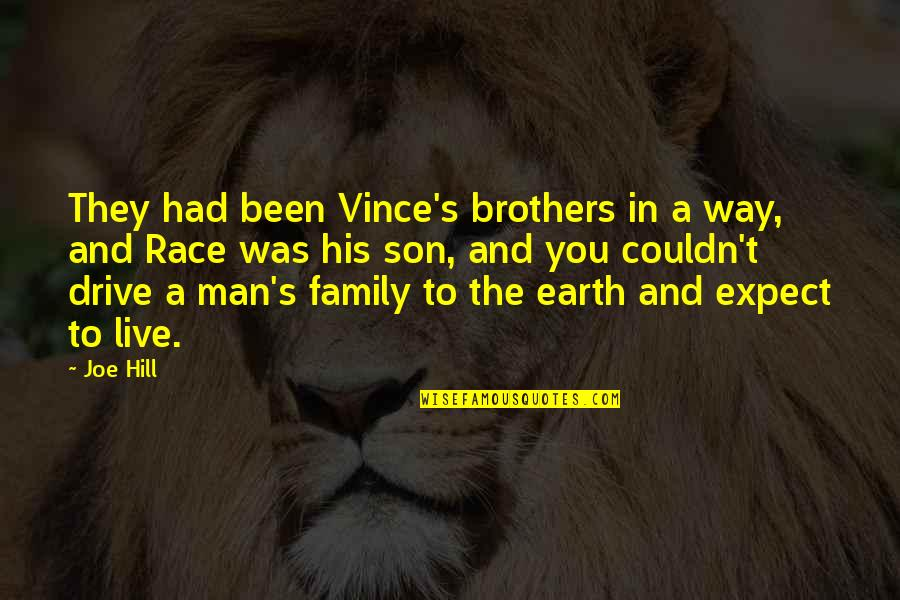 A Man And His Family Quotes By Joe Hill: They had been Vince's brothers in a way,