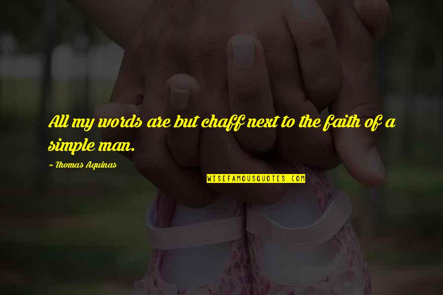 A Man Of Faith Quotes By Thomas Aquinas: All my words are but chaff next to