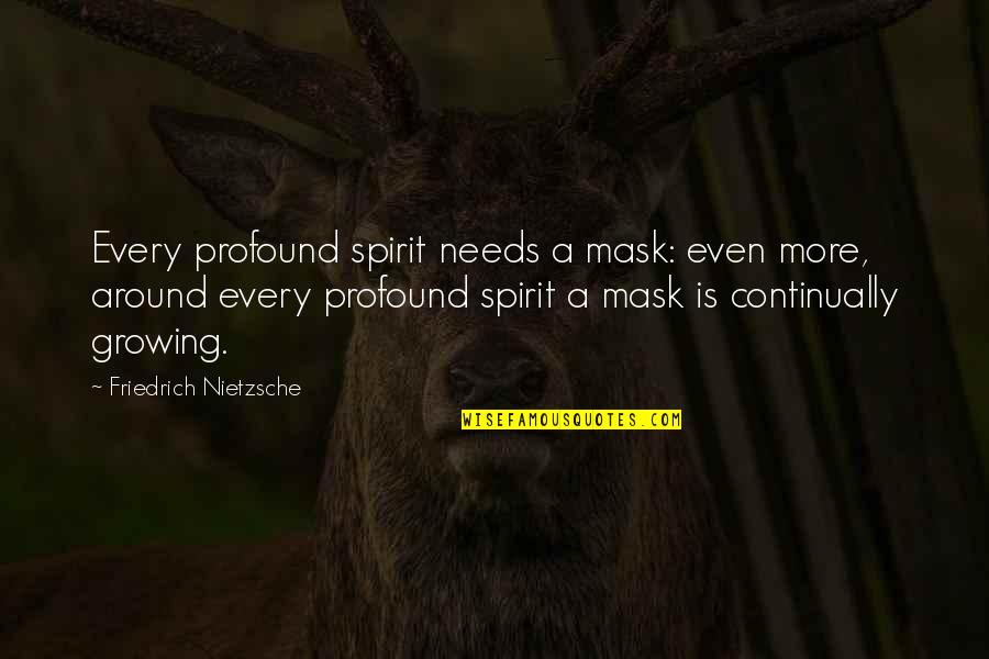 A Mask Quotes By Friedrich Nietzsche: Every profound spirit needs a mask: even more,