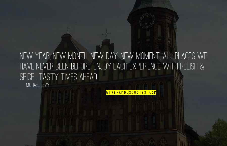 A New Day Ahead Quotes By Michael Levy: New Year, new month, new day, new moment,