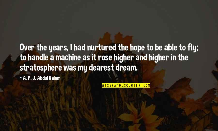 A P J Kalam Quotes By A. P. J. Abdul Kalam: Over the years, I had nurtured the hope