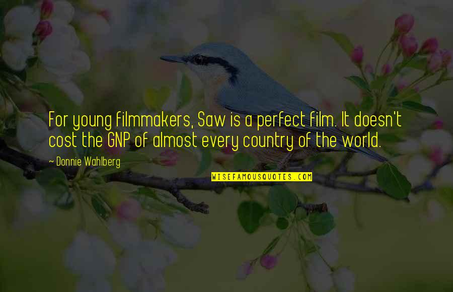A Perfect World Quotes By Donnie Wahlberg: For young filmmakers, Saw is a perfect film.