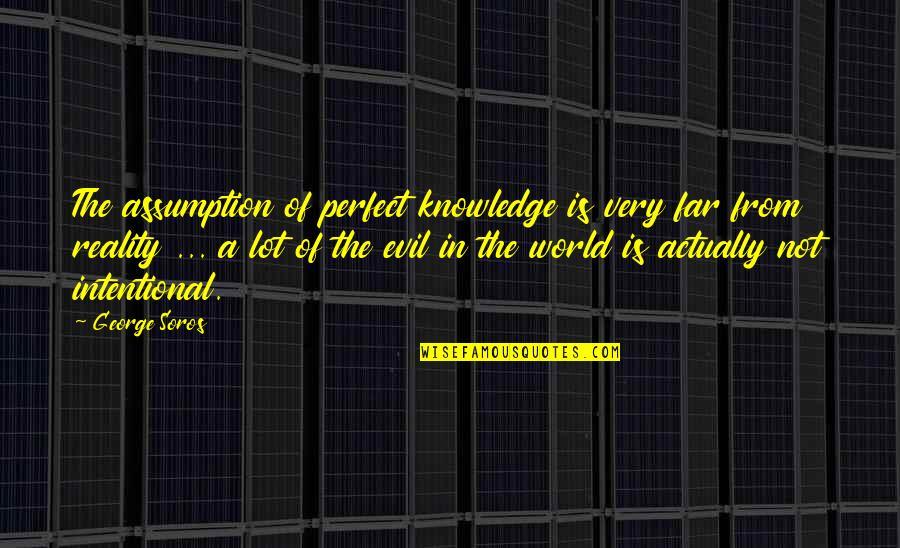 A Perfect World Quotes By George Soros: The assumption of perfect knowledge is very far