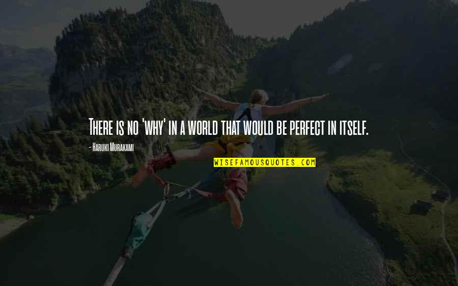 A Perfect World Quotes By Haruki Murakami: There is no 'why' in a world that