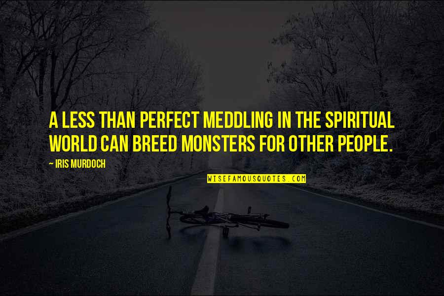 A Perfect World Quotes By Iris Murdoch: A less than perfect meddling in the spiritual