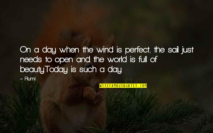 A Perfect World Quotes By Rumi: On a day when the wind is perfect,