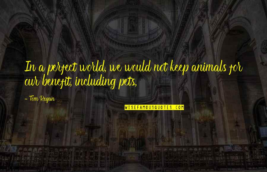 A Perfect World Quotes By Tom Regan: In a perfect world, we would not keep