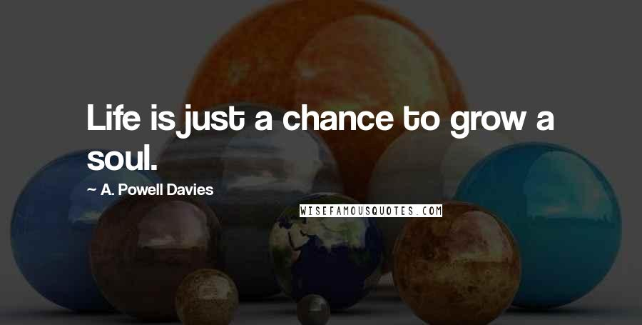 A. Powell Davies quotes: Life is just a chance to grow a soul.