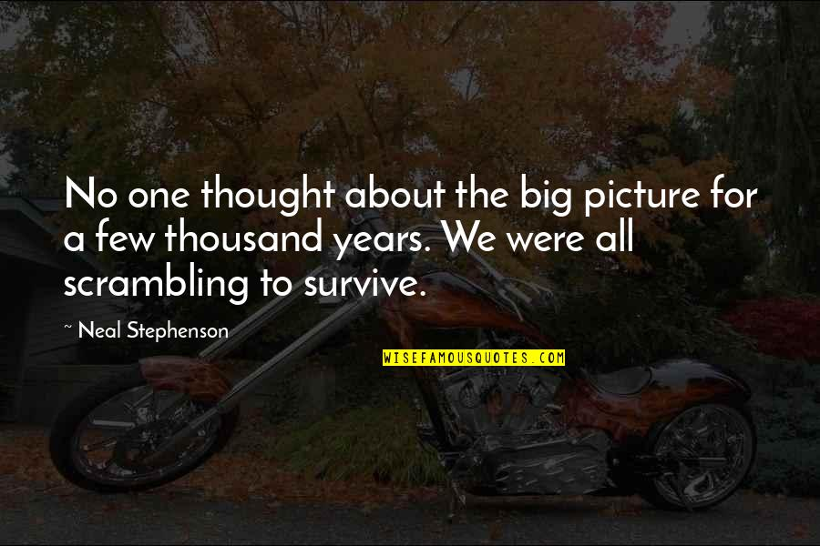 A Praying Woman Quotes By Neal Stephenson: No one thought about the big picture for