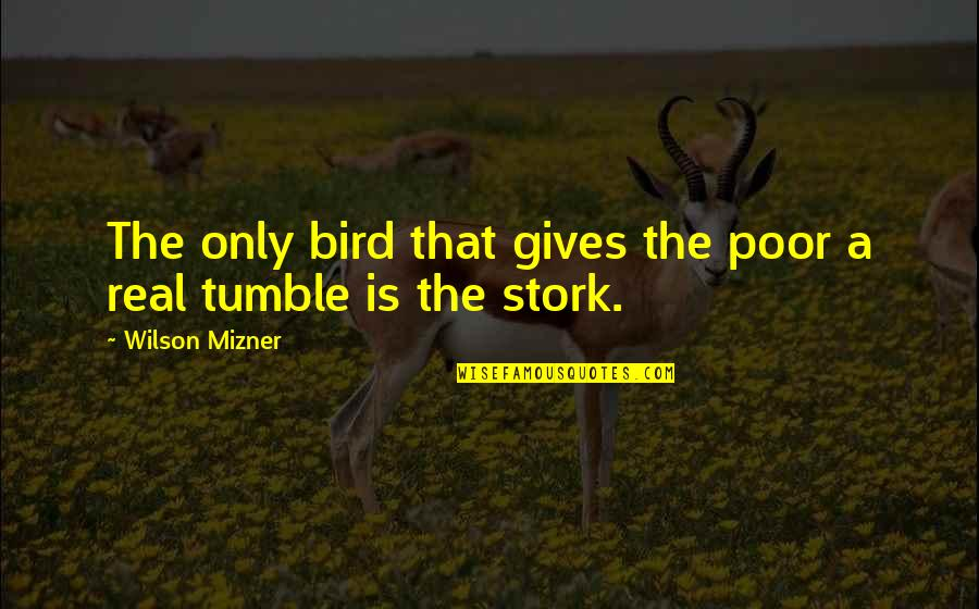A Real Quotes By Wilson Mizner: The only bird that gives the poor a