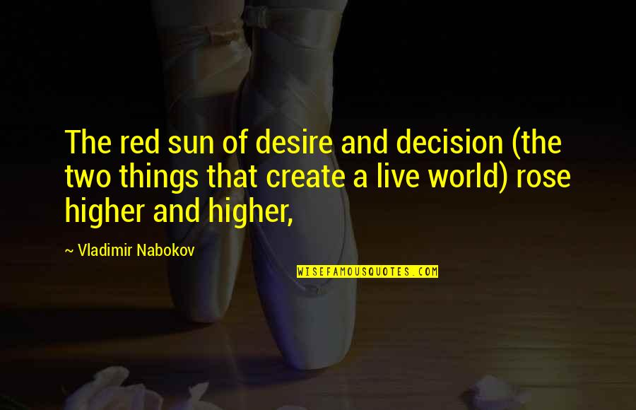 A Red Rose Quotes By Vladimir Nabokov: The red sun of desire and decision (the