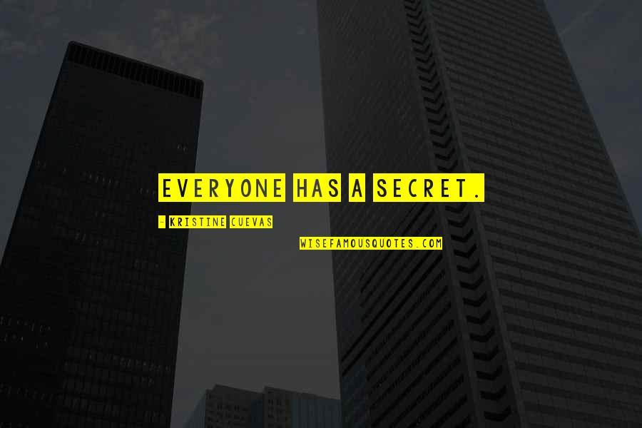 A Secret Love Quotes By Kristine Cuevas: Everyone has a secret.