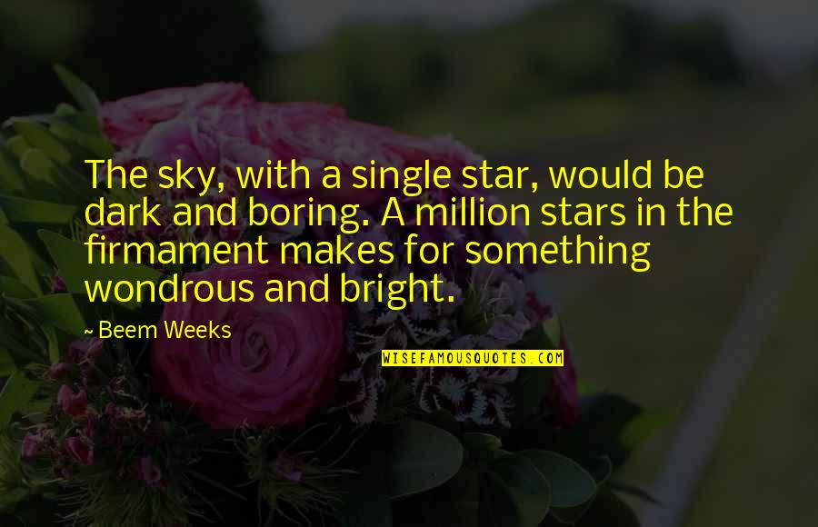 A Star Quotes By Beem Weeks: The sky, with a single star, would be