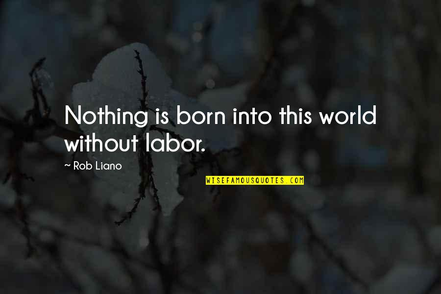 A Star Was Born Quotes By Rob Liano: Nothing is born into this world without labor.