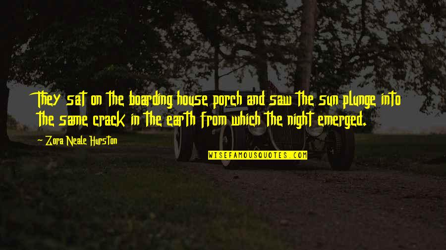 A Thousand Splendid Suns Mariam Marriage Quotes By Zora Neale Hurston: They sat on the boarding house porch and