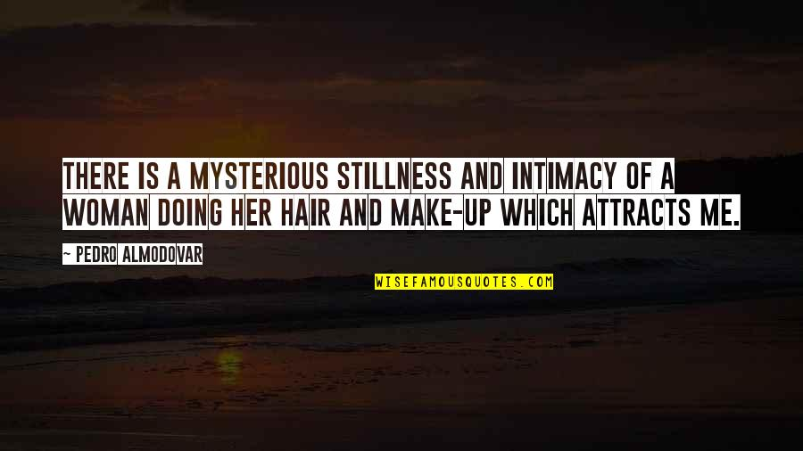 A Woman's Hair Quotes By Pedro Almodovar: There is a mysterious stillness and intimacy of