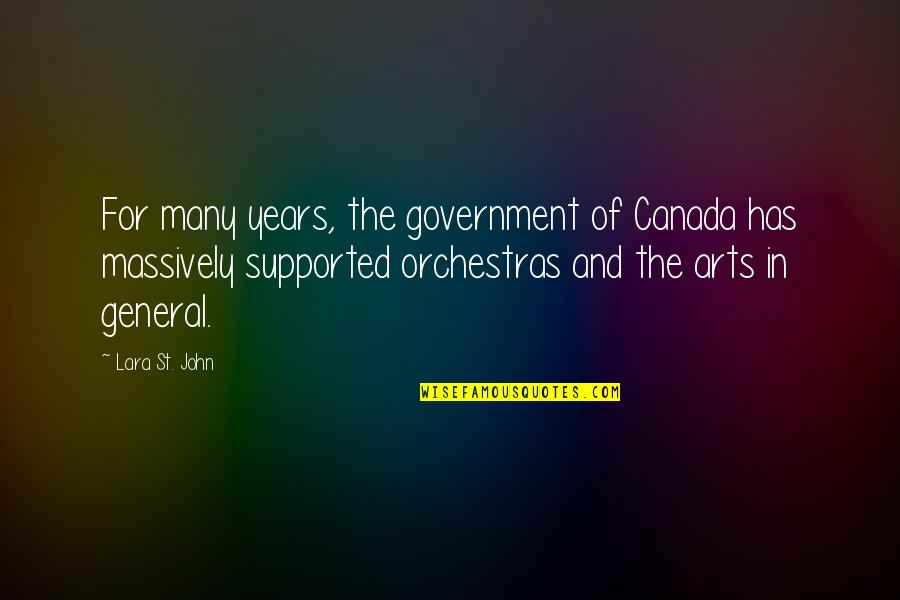 Aaron Altman Broadcast News Quotes By Lara St. John: For many years, the government of Canada has
