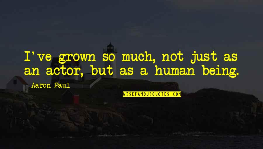Aaron Paul Best Quotes By Aaron Paul: I've grown so much, not just as an