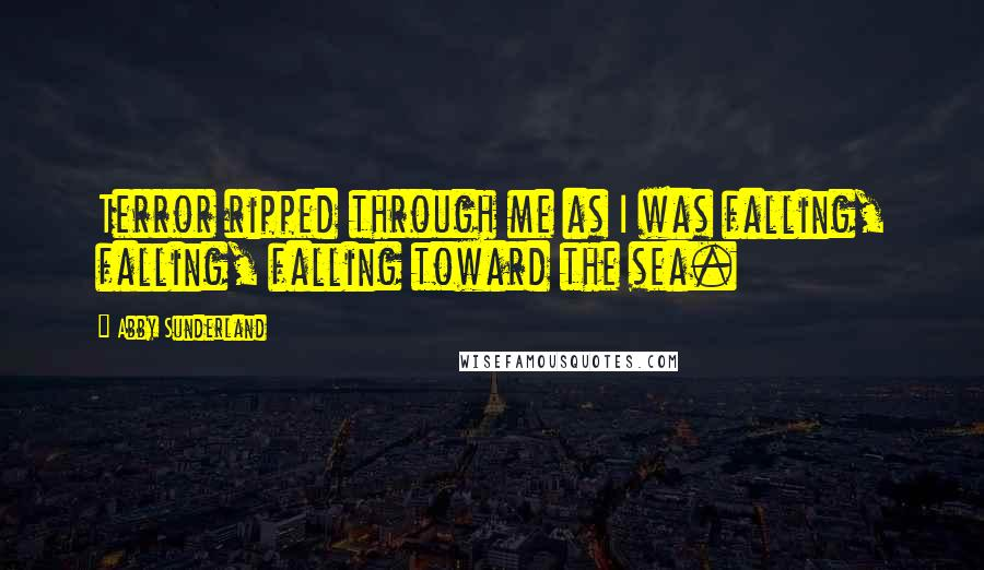 Abby Sunderland quotes: Terror ripped through me as I was falling, falling, falling toward the sea.