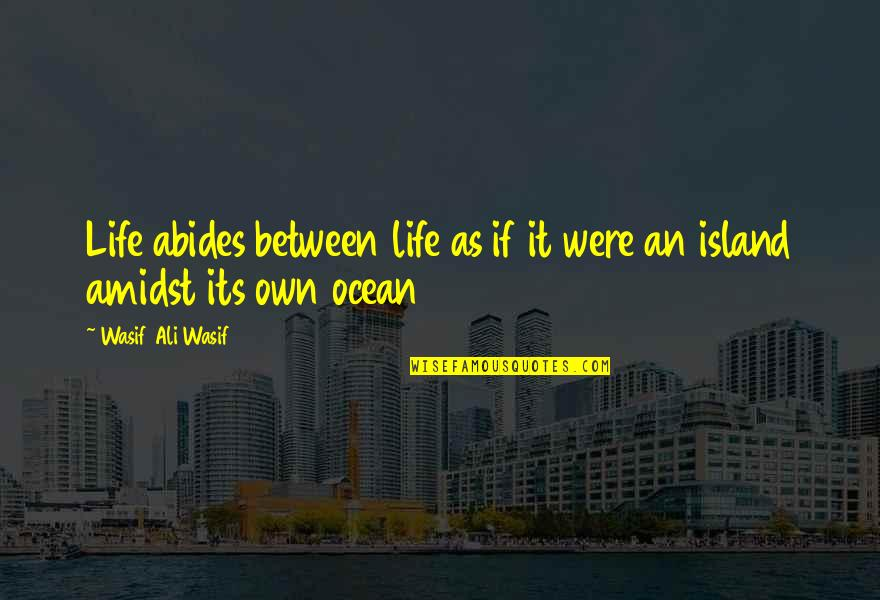 Abides Quotes By Wasif Ali Wasif: Life abides between life as if it were