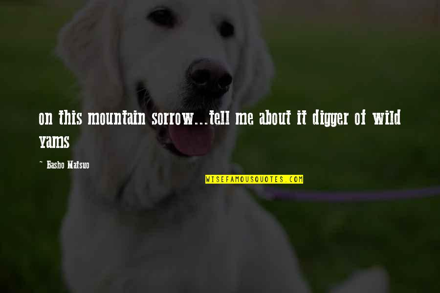 Abotu Quotes By Basho Matsuo: on this mountain sorrow...tell me about it digger