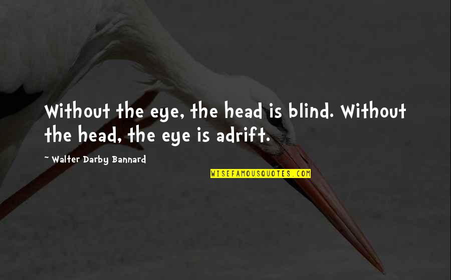 Abou Layla Lzir Quotes By Walter Darby Bannard: Without the eye, the head is blind. Without