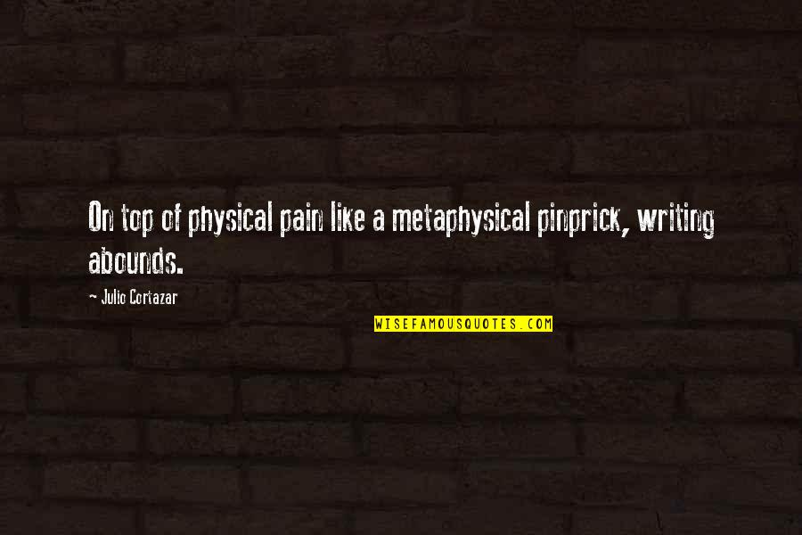 Abounds Quotes By Julio Cortazar: On top of physical pain like a metaphysical