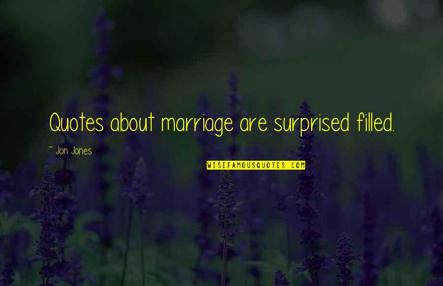About Marriage Quotes By Jon Jones: Quotes about marriage are surprised filled.